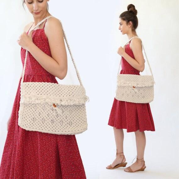 SALE! Macrame market bag | Vintage 70s woven macra
