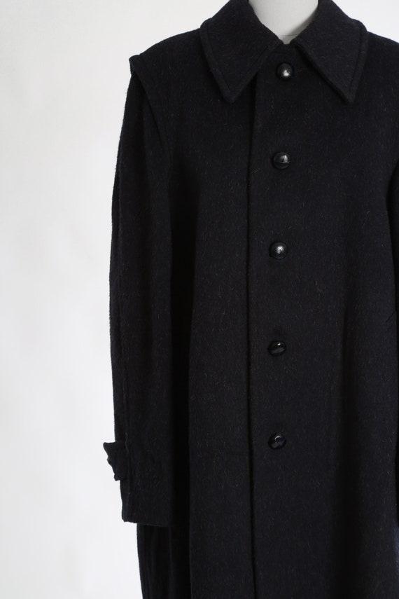Mohair coat | Vintage 60s blue mohair wool coat |… - image 3