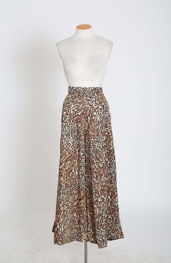 Vintage 60s 70s leopard print palazzo pants - image 6