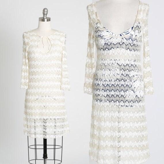 Jordan Taylor coverup | Vintage 90s crochet gold l