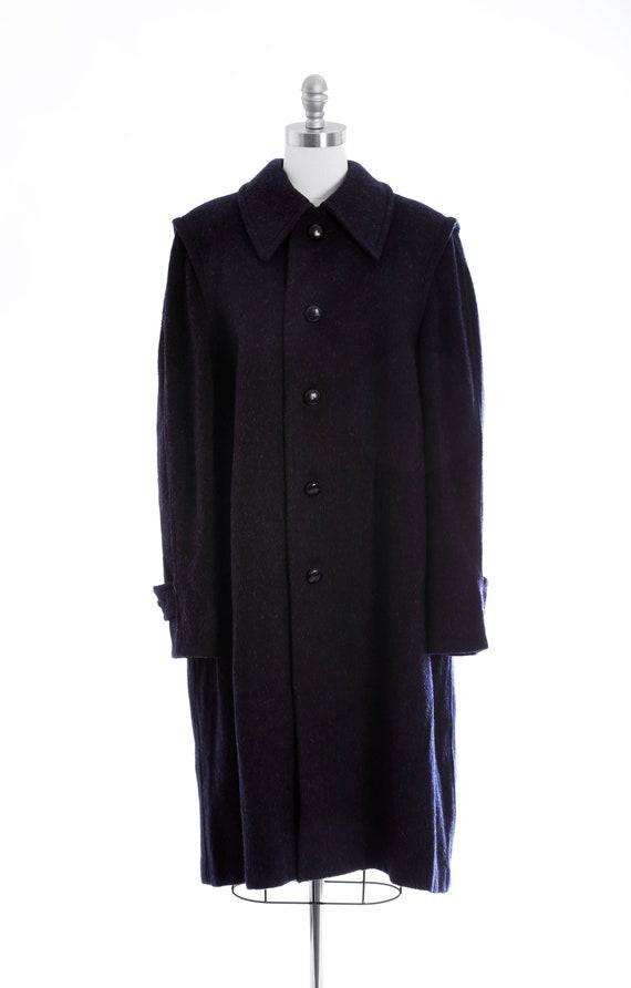 Mohair coat | Vintage 60s blue mohair wool coat |… - image 2