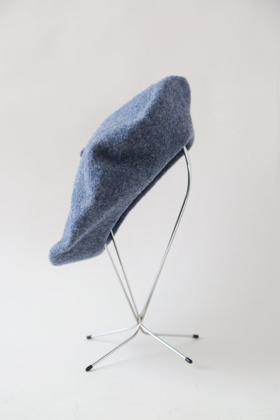Blue Beret hat | Vintage 70s Basque DeLuxe wool b… - image 3