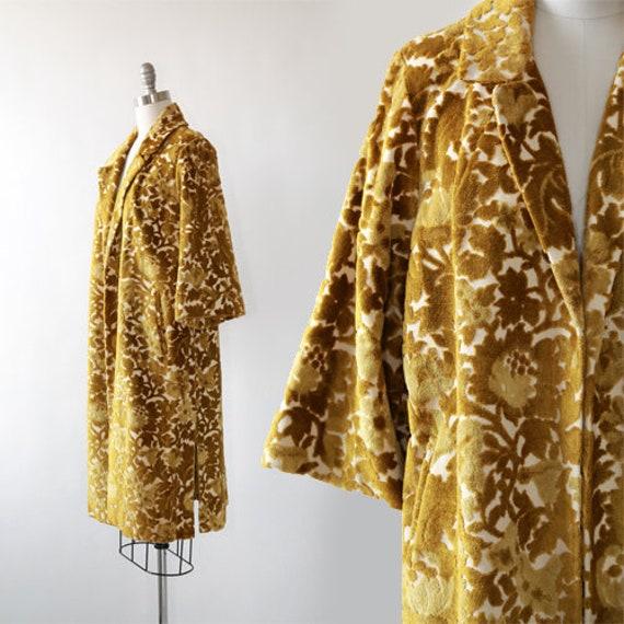Rosenblum tapestry coat   Vintage 60s chartreuse f