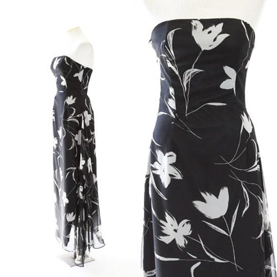 Jessica McClintock gown | Vintage floral dress