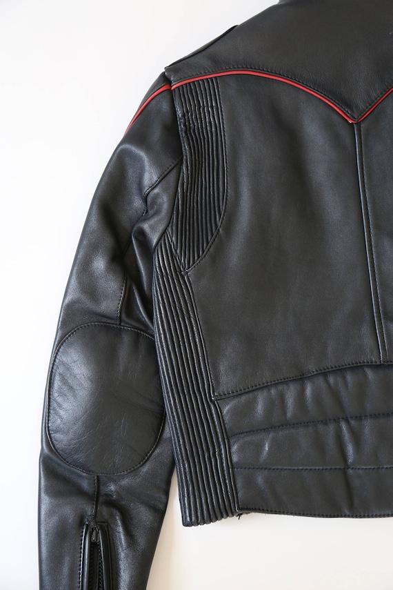 Motorcycle jacket | Vintage 80s Black Leather Mot… - image 3