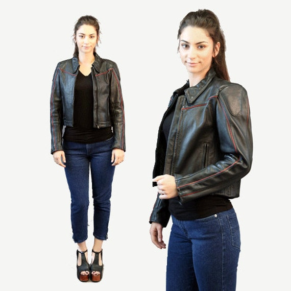 Motorcycle jacket | Vintage 80s Black Leather Mot… - image 6