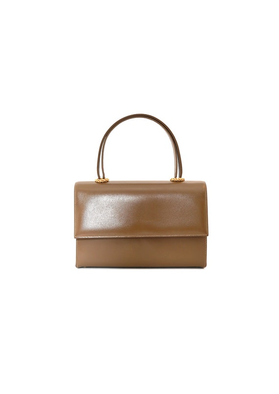 Marchioness purse | Vintage 60s brown leather kell