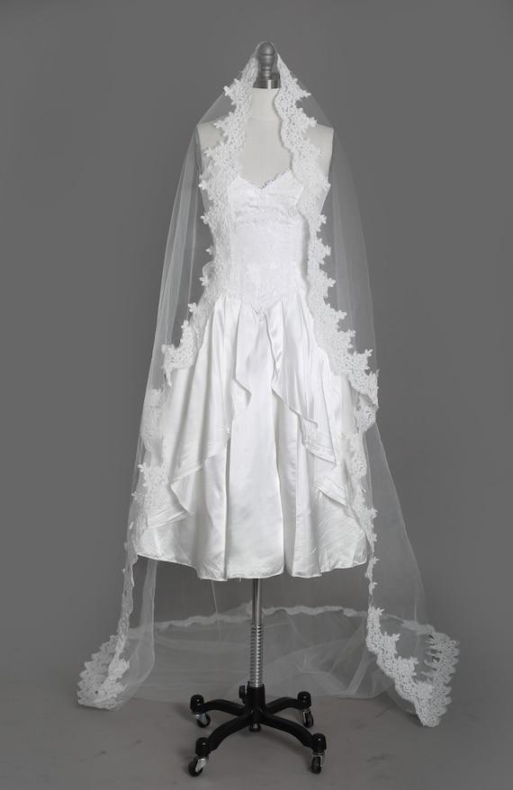 Gunne Sax Wedding Dress   Vintage 80s sweetheart … - image 7