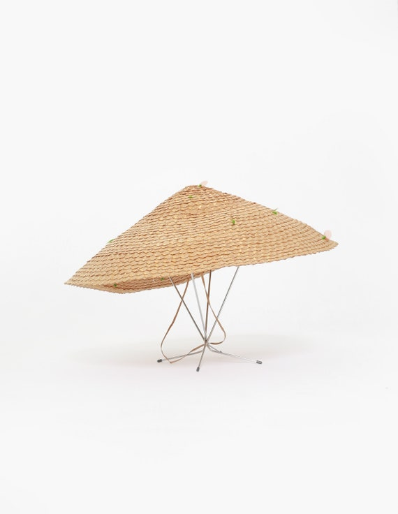 40s Asian straw hat | Vintage 1940s coolie Conica… - image 2