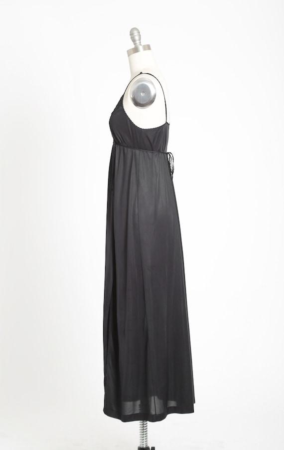 Gilead slip dress | Vintage 70s black floral maxi… - image 5