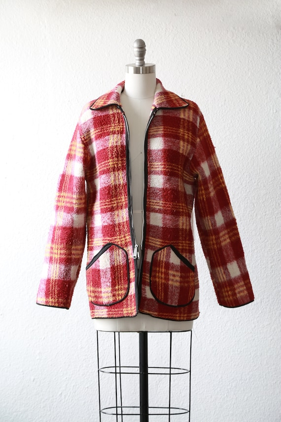 40s reversible plaid jacket | Vintage 40s plaid fl