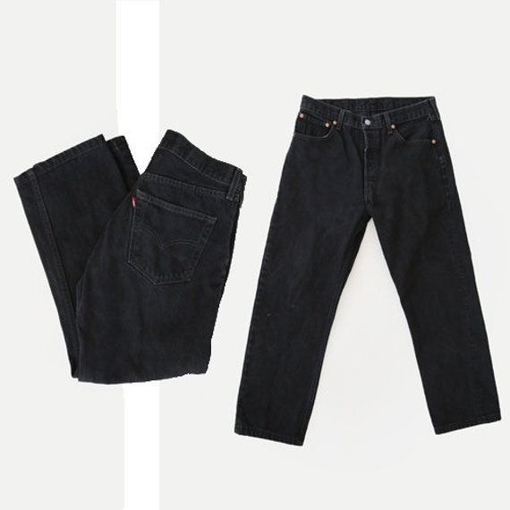 501 Levi's | Vintage 80s 501 Levis black denim red