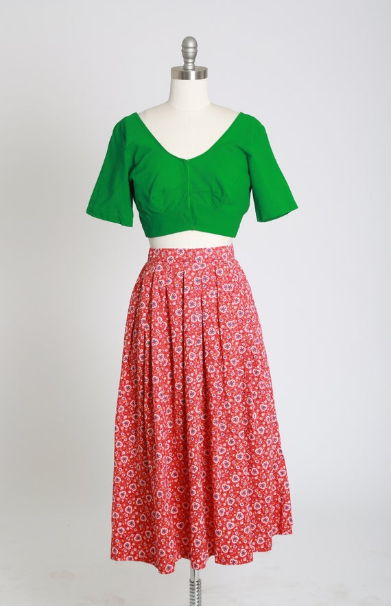 50s novelty print skirt | Vintage 50s novelty hea… - image 5
