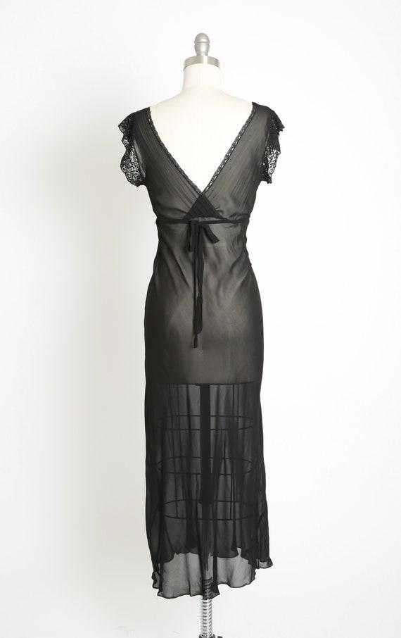 Bias cut slip dress | Vintage 40s black silk lace… - image 7