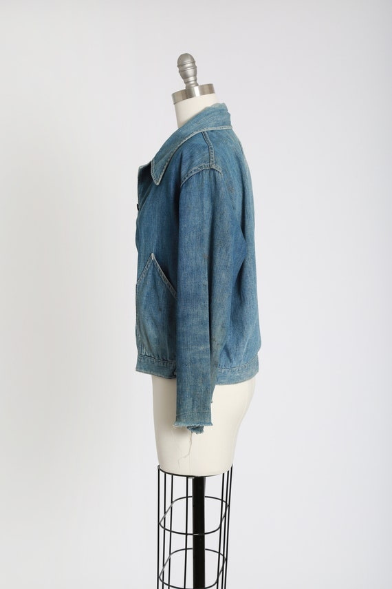 40s jean jacket | vintage 40s denim jacket | 1940… - image 6