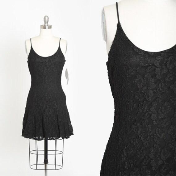 Rampage lace mini dress | Vintage 90s black lace m