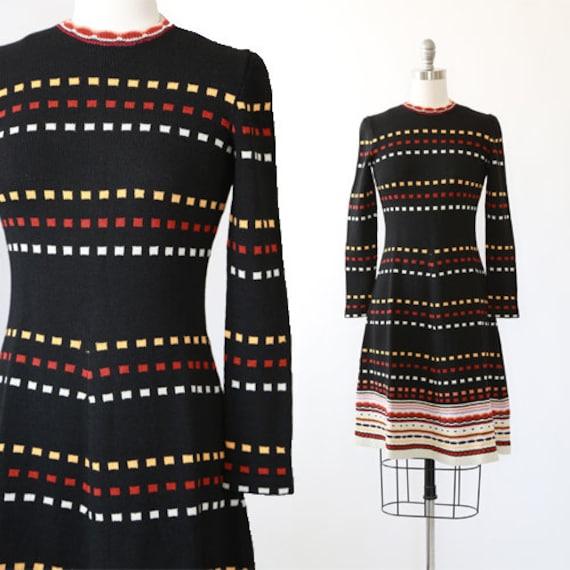 ADOLFO knit dress | Vintage 70s knit sweater dress