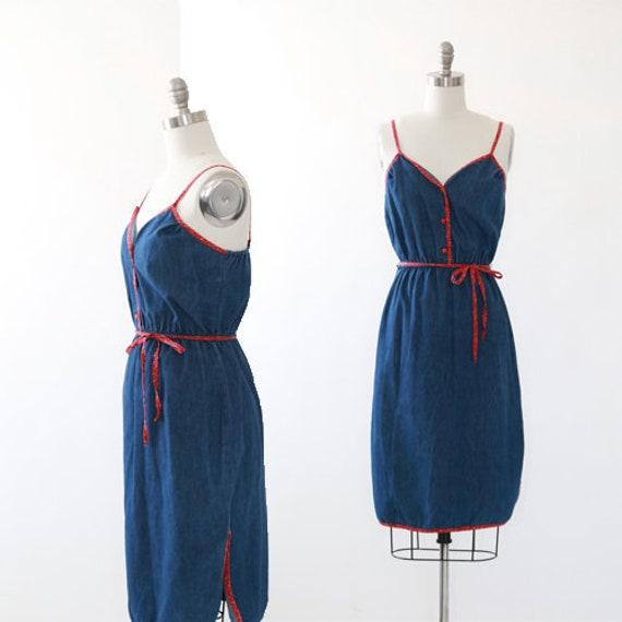 70s Denim dress | Vintage 70s jean dress