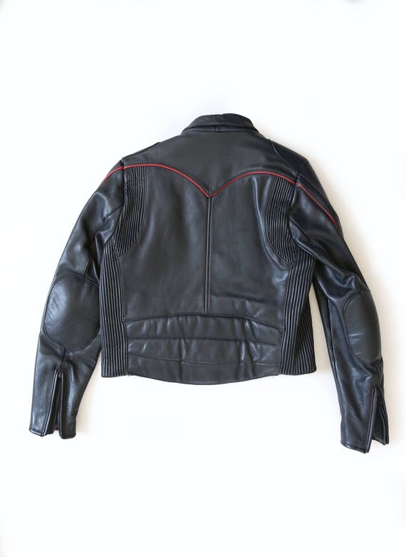 Motorcycle jacket | Vintage 80s Black Leather Mot… - image 4