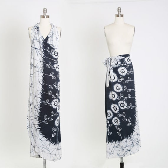 Tie dye wrap skirt | Vintage 70s floral tie dye wr