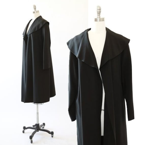 Vintage 40s black swing coat jacket
