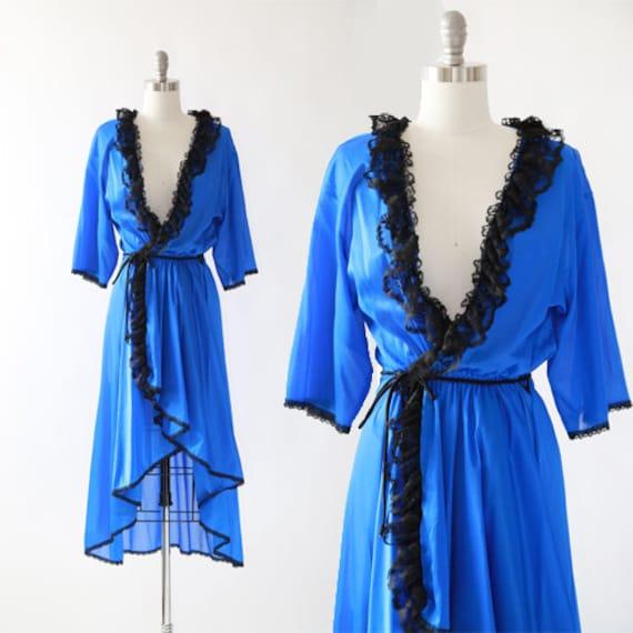 FREDERICKS OF HOLLYWOOD robe | vintage 80s 90s lin