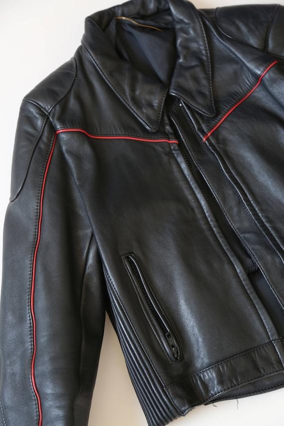 Motorcycle jacket | Vintage 80s Black Leather Mot… - image 2