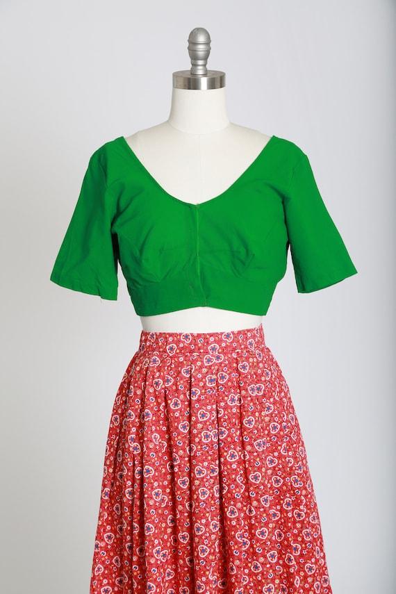 50s novelty print skirt | Vintage 50s novelty hea… - image 4
