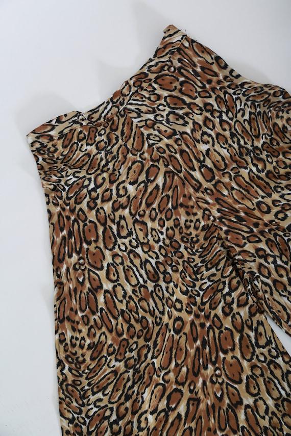 Vintage 60s 70s leopard print palazzo pants - image 3