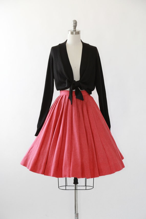 50s Salmon wool circle skirt
