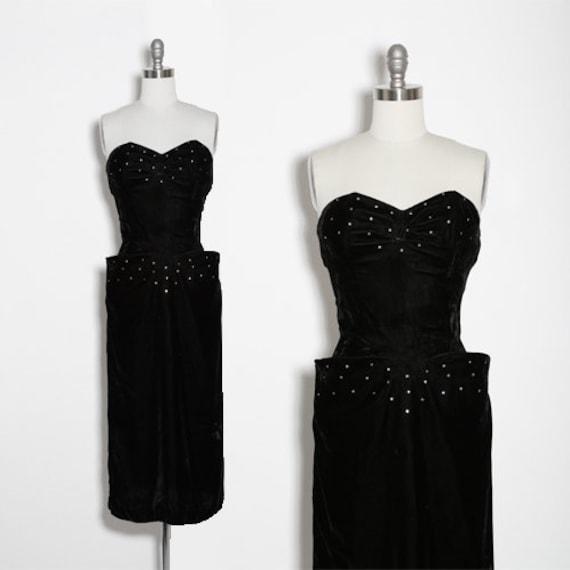 J'Adore velvet dress | Vintage 40s 50s black rayon
