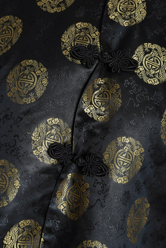 40s Pajama blouse | Vintage 40s silk Oriental Jap… - image 5