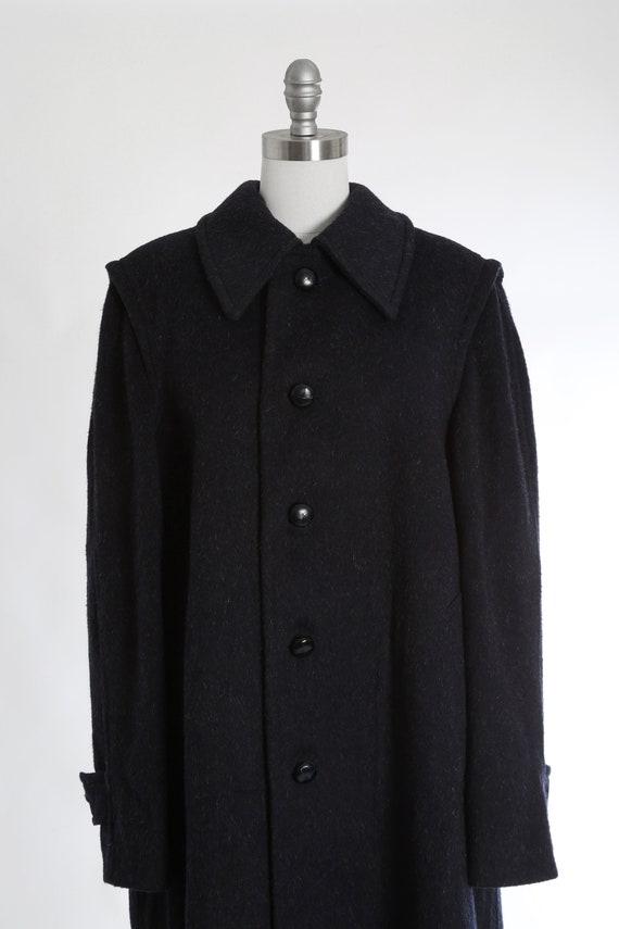 Mohair coat | Vintage 60s blue mohair wool coat |… - image 4