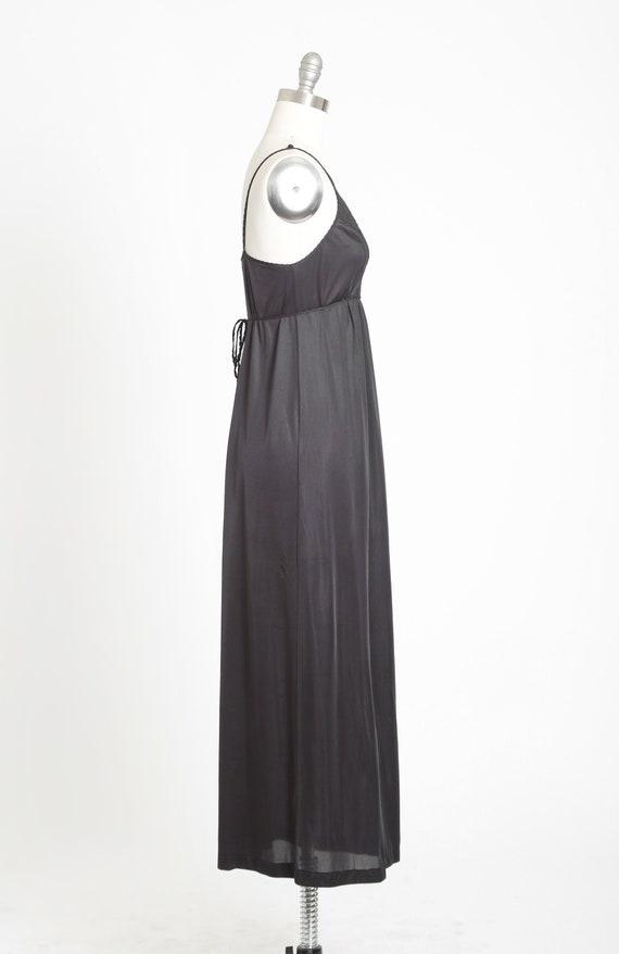 Gilead slip dress | Vintage 70s black floral maxi… - image 4