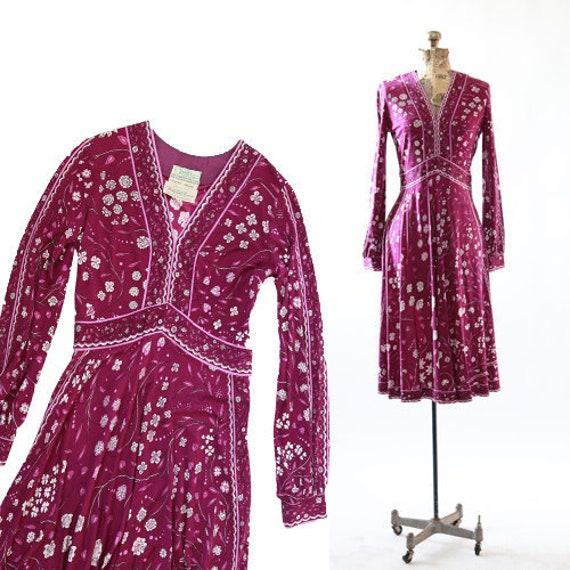 Emilio Pucci silk dress | Vintage RARE 60s Emilio