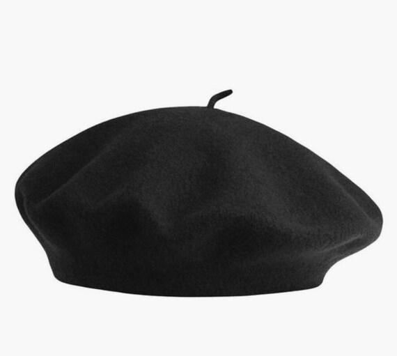 Black Beret hat | Vintage 90s Liz Claiborne wool b