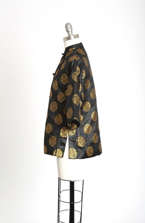 40s Pajama blouse | Vintage 40s silk Oriental Jap… - image 7
