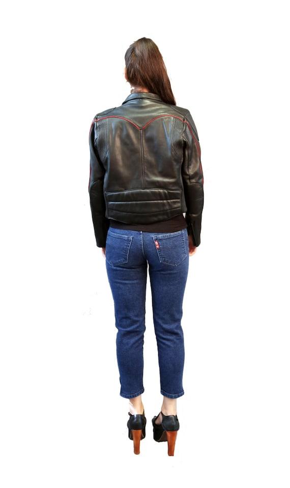 Motorcycle jacket | Vintage 80s Black Leather Mot… - image 9
