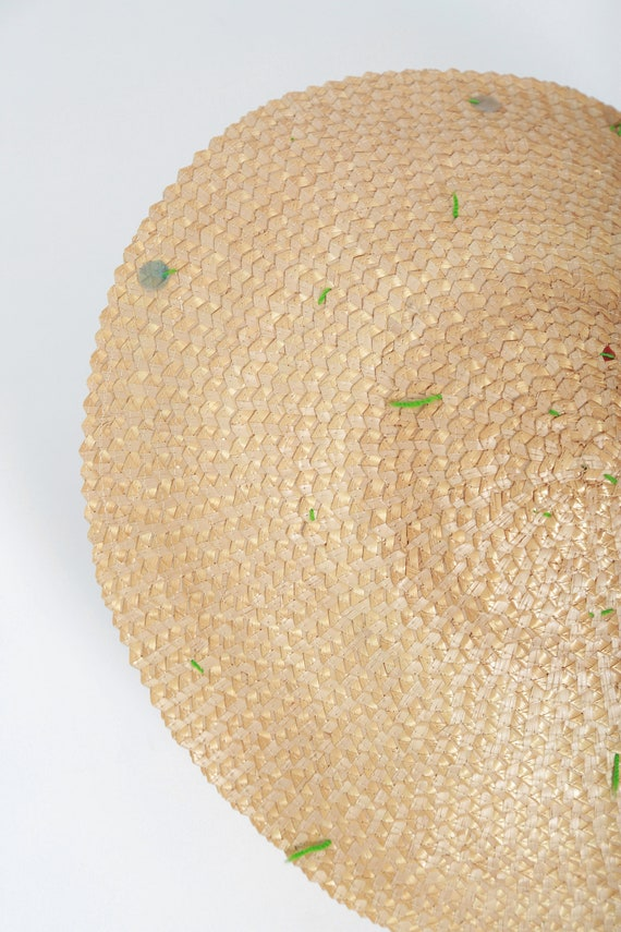 40s Asian straw hat | Vintage 1940s coolie Conica… - image 4