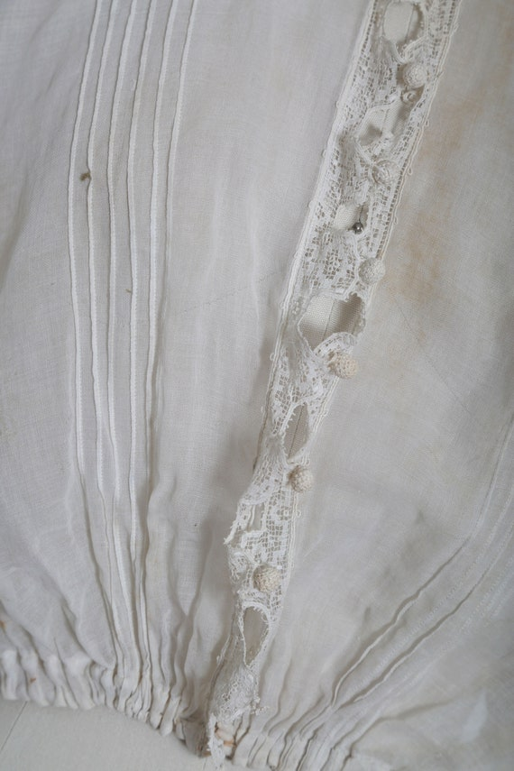 Antique 1900s Victorian crochet sheer white cotto… - image 5