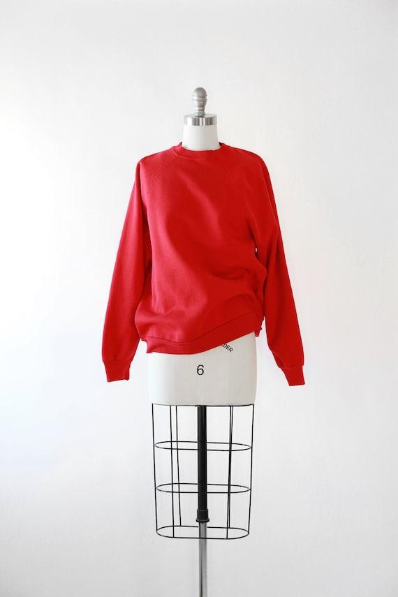 Vintage 80s red Raglan sweatshirt