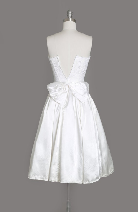 Gunne Sax Wedding Dress   Vintage 80s sweetheart … - image 5