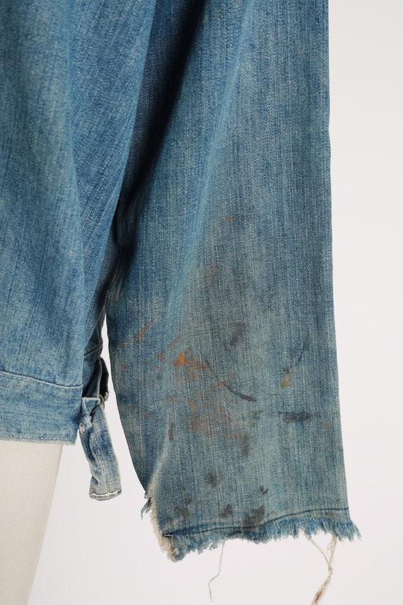 40s jean jacket | vintage 40s denim jacket | 1940… - image 8