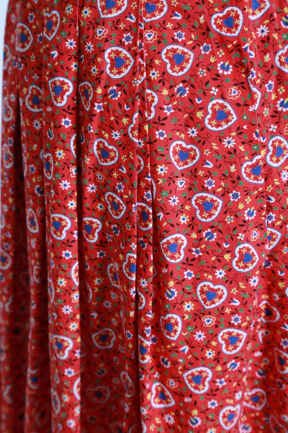 50s novelty print skirt | Vintage 50s novelty hea… - image 8