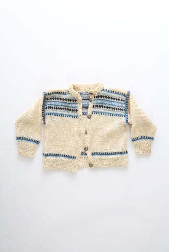 Fair Isle Nordic Sweater | Vintage 40s 50s kids no