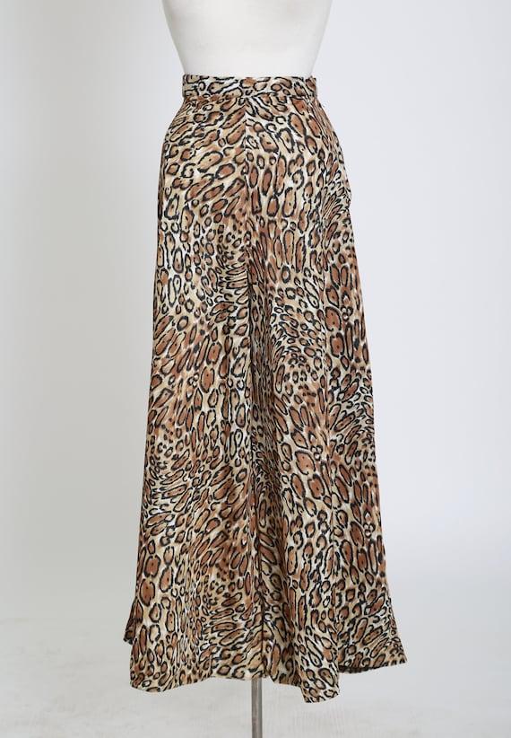 Vintage 60s 70s leopard print palazzo pants - image 5