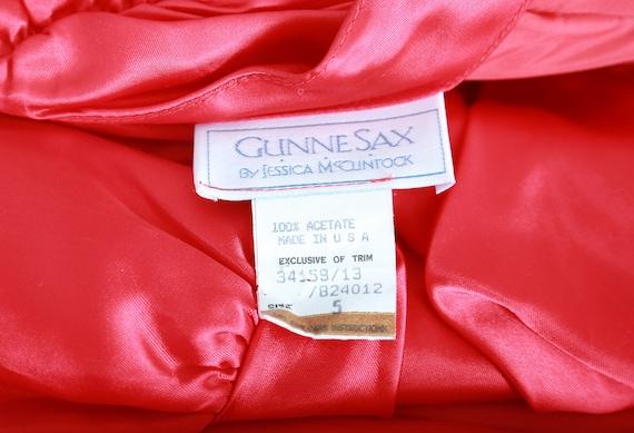 Gunne Sax victorian dress | Vintage Gunne Sax RED… - image 7