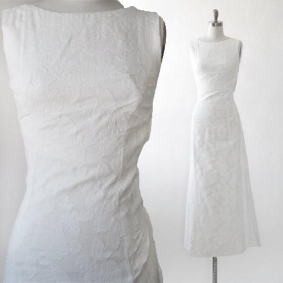 Floral wedding dress | Vintage 50s embroidered flo