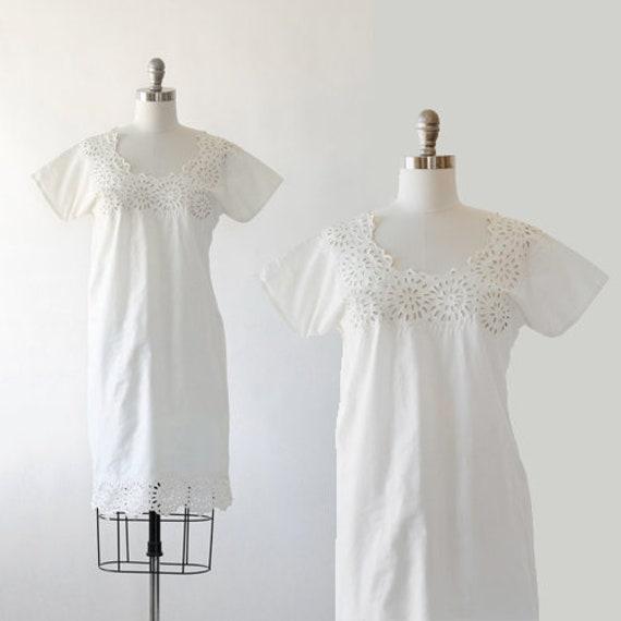 Edwardian cotton Chemise | Antique vintage 1900s c