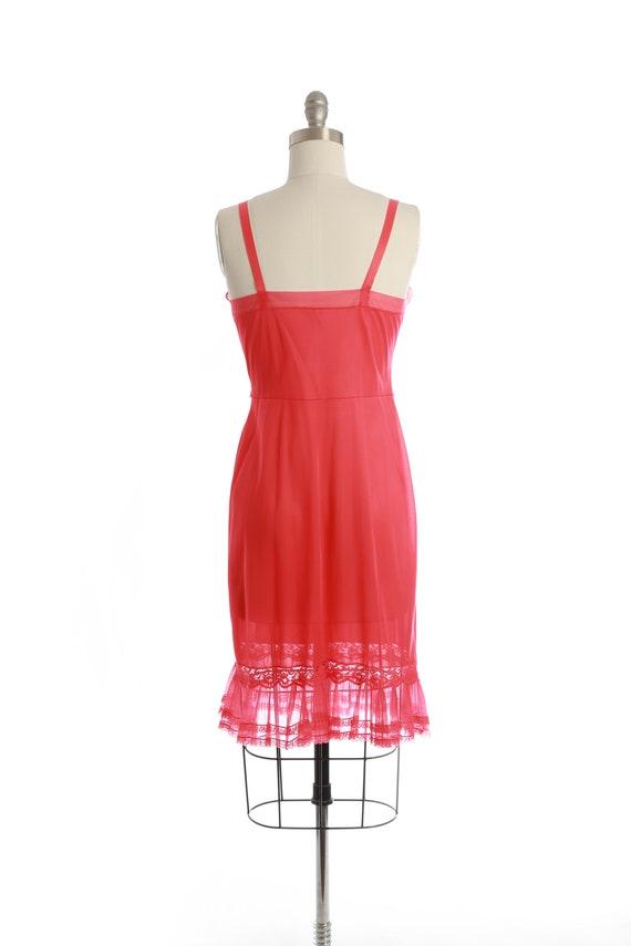 Bias cut slip dress   Vintage 40s 50s Hot pink sl… - image 8